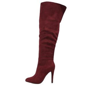 Shoes - Size 6 Vino over the Knee open cuff boot